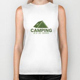 Camping It's In Tents Biker Tank