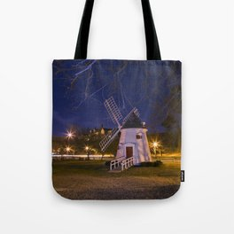 Yorktown Windmill at Night Tote Bag
