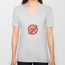 Peanuts Are Forbidden - Les Arachides Sont Interdites Unisex V-Neck