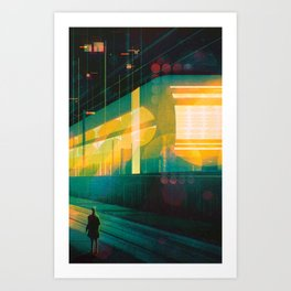 The Late Train Art Print