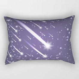 Flying meteors. Ultra violet. Rectangular Pillow