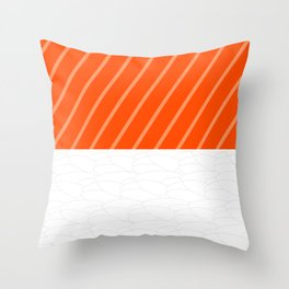 Simple Salmon Sushi Throw Pillow