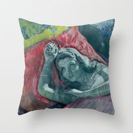 Tattooed princes  Throw Pillow