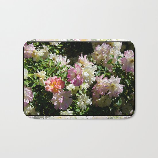 ROSA BONICA ROSE FLOWERS Bath Mat
