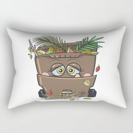 Yard Waste Monster Rectangular Pillow