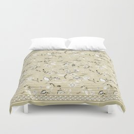 Paisleys in Biege - by Fanitsa Petrou Duvet Cover