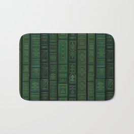 "Extravagant Design Series: Vertical Book Pattern ""Bookbag"" Bath Mat"