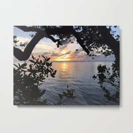 Sunset Key Largo Metal Print