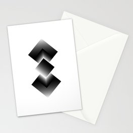 black color energy tower Stationery Cards