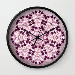 Flower Mandala Pink Wall Clock