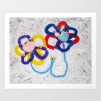 Art Print featuring Flower Power by Jackie Hickey