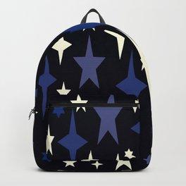 Vintage Blue Classic Blue Atomic Stars Backpack