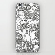 Oodles of Doodles of Singapore (White) iPhone & iPod Skin