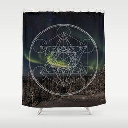 Northern Lights Star Shower Curtain