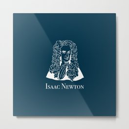 Illustration of Isaac Newton Metal Print