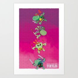 Young mutant ninja turtles Art Print