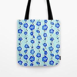 Baby Blue Wildflower Tote Bag