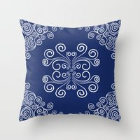 blueprint Throw Pillows featuring Blueprint by Hind686