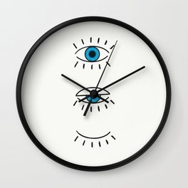 Summer Evil Eyes Wall Clock