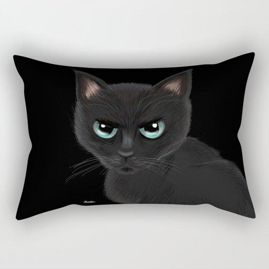 Angry cat Rectangular Pillow