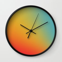Gradient Colours: Red Yellow Blue Wall Clock