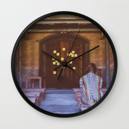 Temple Sticky Notes Wall Clock