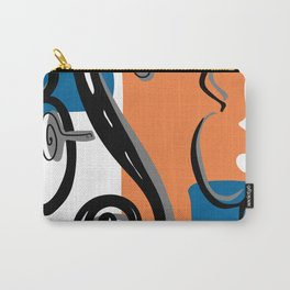 Scroll Pride - violin viola cello love - orange and teal Carry-All Pouch