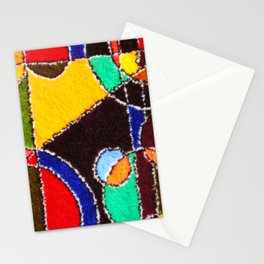 A carpet with an abstract pattern made by hands. Stationery Cards