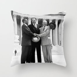 Thurgood Marshal on the steps of the Supreme Court  Throw Pillow