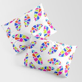 Stained Glass Leaves Pillow Sham