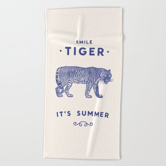 Smile Tiger, it's Summer Beach Towel