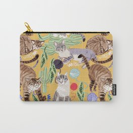 Whiskers and Yarn Yellow Carry-All Pouch
