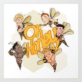 Oh Honey! Art Print