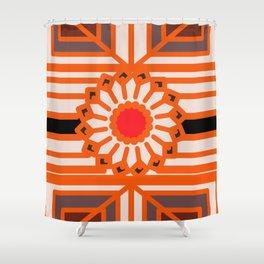 Orange Flower Abstract Shower Curtain