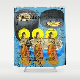 1, 2, 3 II Shower Curtain