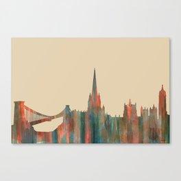 Bristol, UK Skyline - Navaho Canvas Print