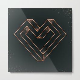 le coeur impossible (nº 6) Metal Print