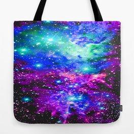 Fox Fur Nebula Galaxy Pink Purple Blue Tote Bag