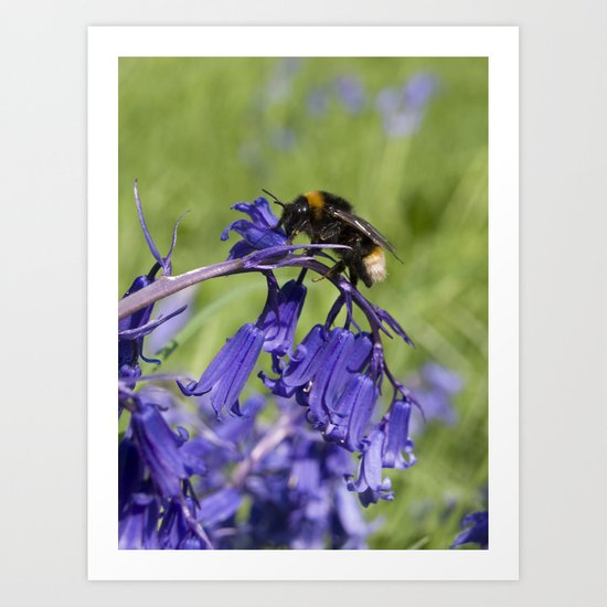 Bee on a mission Art Print