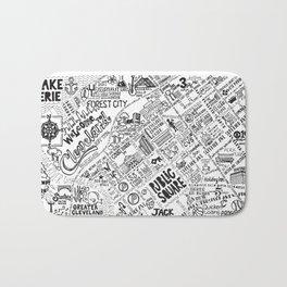 Cleveland Map Bath Mat