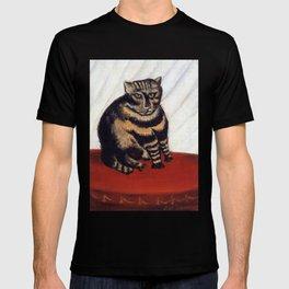 Henri Russeau, Tabby 1963, Naive Cat Artwork for Wall Art, Prints, Posters, Tshirts, Men, Women, You T-shirt