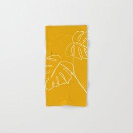 Monstera minimal - yellow Hand & Bath Towel