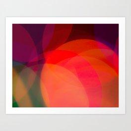 Rainbow Bokeh Circles Art Print