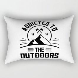 Addicted to Outdoors Camping Outdoors Rectangular Pillow