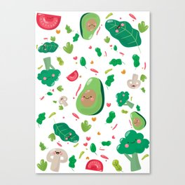 Veggy Pattern Canvas Print