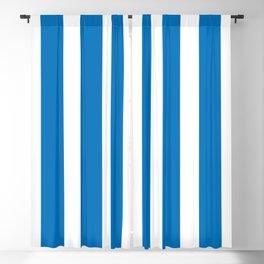 Resort Stripe in Blue Blackout Curtain