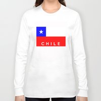 chile Long Sleeve T-shirts featuring Chile country flag name text by tony tudor