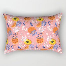 PEACH AND ORANGE PATTERN Rectangular Pillow