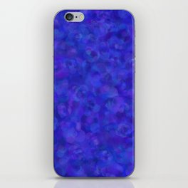 Royal Blue Floral Abstract iPhone Skin