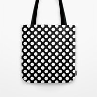 polka dots Tote Bags featuring Polka Dots by Kings in Plaid